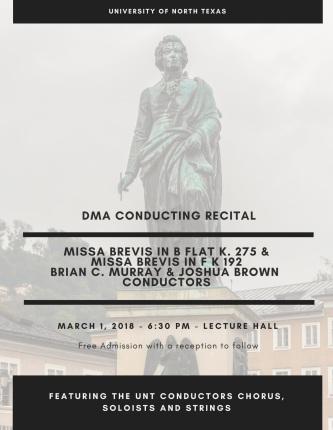 Mozart Recital Poster